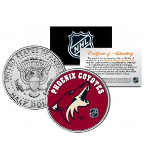PHOENIX COYOTES NHL Hockey JFK Kennedy Half Dollar U.S. Coin - Officially Licensed