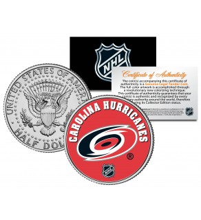 CAROLINA HURRICANES NHL Hockey JFK Kennedy Half Dollar U.S. Coin - Officially Licensed