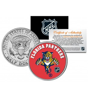 FLORIDA PANTHERS NHL Hockey JFK Kennedy Half Dollar U.S. Coin - Officially Licensed