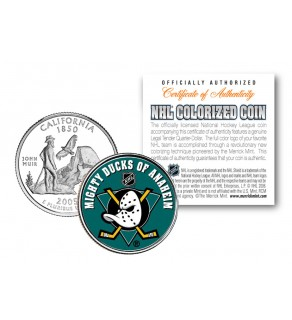 ANAHEIM DUCKS NHL Hockey California Statehood Quarter U.S. Colorized Coin - Officially Licensed