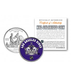 LOS ANGELES KINGS NHL Hockey California Statehood Quarter U.S. Colorized Coin - Officially Licensed
