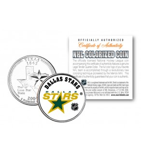 DALLAS STARS NHL Hockey Texas Statehood Quarter U.S. Colorized Coin - Officially Licensed