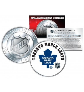 TORONTO MAPLE LEAFS Royal Canadian Mint Medallion NHL Colorized Coin - Officially Licensed