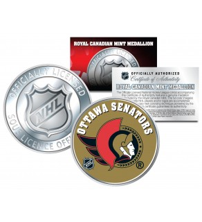OTTAWA SENATORS Royal Canadian Mint Medallion NHL Colorized Coin - Officially Licensed