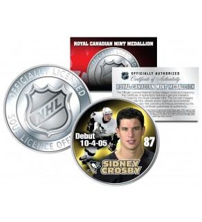 2005-06 SIDNEY CROSBY Royal Canadian Mint Medallion NHL DEBUT Rookie Coin - Officially Licensed