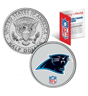CAROLINA PANTHERS NFL JFK Kennedy Half Dollar US Colorized Coin - Officially Licensed