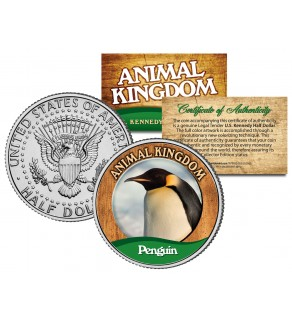 PENGUIN - Animal Kingdom Series - JFK Kennedy Half Dollar U.S. Colorized Coin