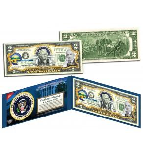 WARREN G HARDING * 29th U.S. President * Colorized Presidential $2 Bill U.S. Genuine Legal Tender