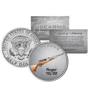 RUGER 10/22 Gun Firearm JFK Kennedy Half Dollar US Colorized Coin