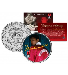 "MUHAMMAD ALI "" Red Robe "" JFK Kennedy Half Dollar U.S. Coin"