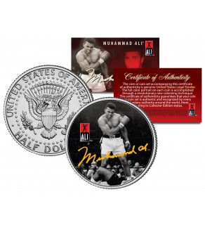 "MUHAMMAD ALI "" Liston Knockout "" JFK Kennedy Half Dollar U.S. Coin"
