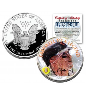 CAL RIPKEN JR 2001 American Silver Eagle Dollar 1 oz Colorized Coin FAREWELL TO A LEGEND - Officially Licensed