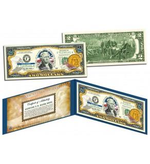 GEORGIA $2 Statehood GA State Two-Dollar U.S. Bill - Genuine Legal Tender