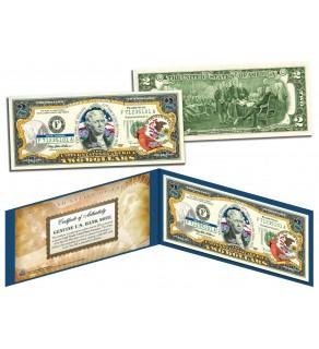 ILLINOIS $2 Statehood IL State Two-Dollar U.S. Bill - Genuine Legal Tender