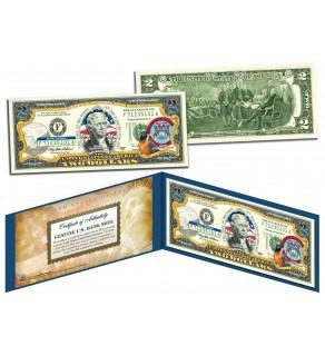 MICHIGAN $2 Statehood MI State Two-Dollar U.S. Bill - Genuine Legal Tender
