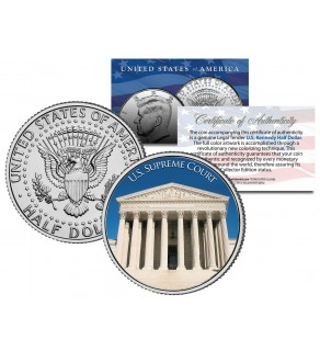 UNITED STATES SUPREME COURT - Washington D.C. - JFK Kennedy Half Dollar U.S. Coin