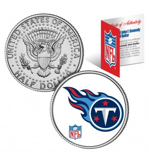 TENNESSEE TITANS NFL JFK Kennedy Half Dollar US Colorized Coin - Officially Licensed