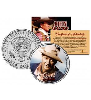 "JOHN WAYNE - THE DUKE "" Rio Bravo "" JFK Kennedy Half Dollar US Coin - Officially Licensed"