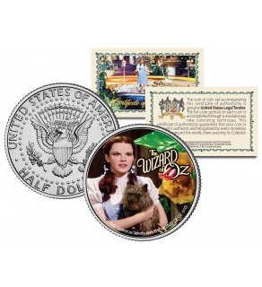 "WIZARD OF OZ "" Dorothy & Toto "" JFK Kennedy Half Dollar US Coin - Officially Licensed"
