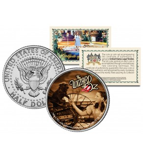 "WIZARD OF OZ "" Over the Rainbow with Toto "" JFK Kennedy Half Dollar US Coin - Officially Licensed"