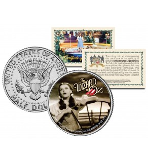 "WIZARD OF OZ "" Over the Rainbow "" JFK Kennedy Half Dollar US Coin - Officially Licensed"