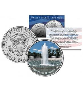 WORLD WAR II MEMORIAL - Washington D.C. - JFK Kennedy Half Dollar U.S. Coin