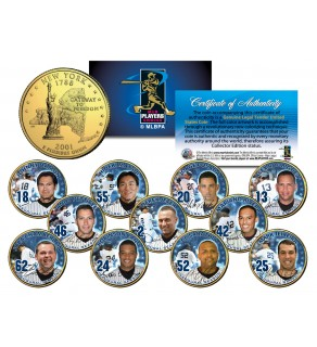 2009 YANKEE STADIUM INAUGURAL SEASON Quarters 11-Coin Team Set 24K Gold Plated - WORLD SERIES CHAMPIONS - Derek Jeter