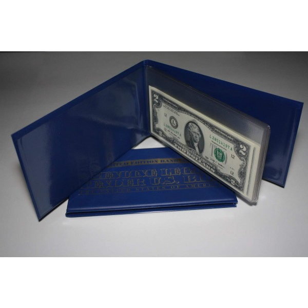 Lot Of 2 Currency Bill Holder Albums Holds 10 Bills For