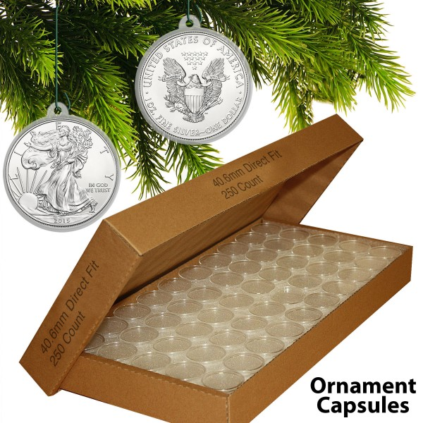 250 Direct Fit Airtight 40 6mm Christmas Ornament Coin