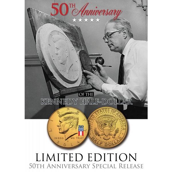 Coin PRESIDENT KENNEDY ASSASSINATION 50th Anniversary JFK Half Dollar U.S