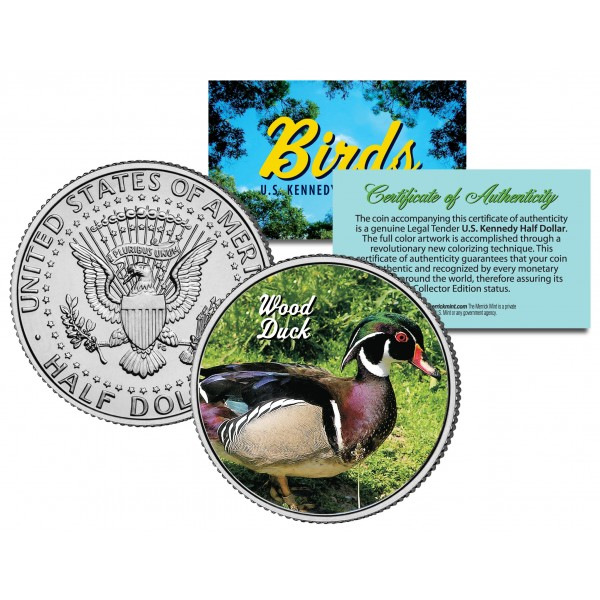WOOD DUCK *Collectible Birds* JFK Kennedy Half Dollar Colorized US Coin CAROLINA