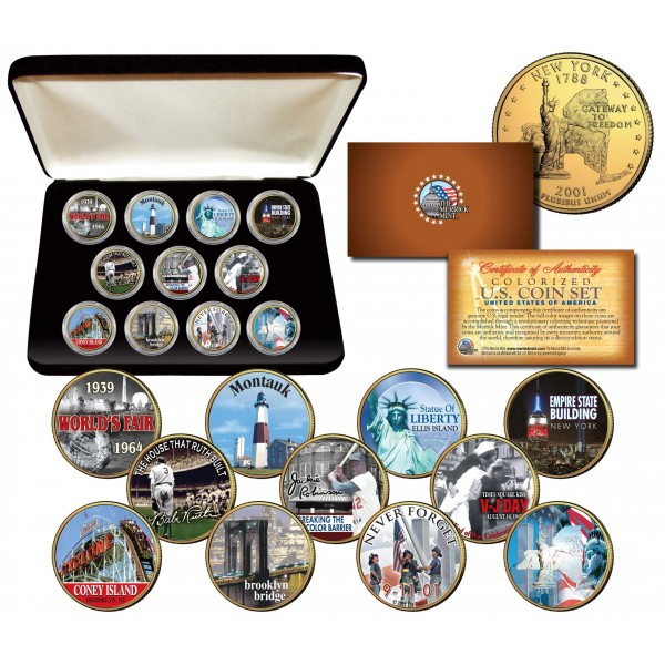 WORLD TRADE CENTER 9 //11 *-3 rd ANNIVERSARY COLORIZED Statehood Quarter-NEW ITEM
