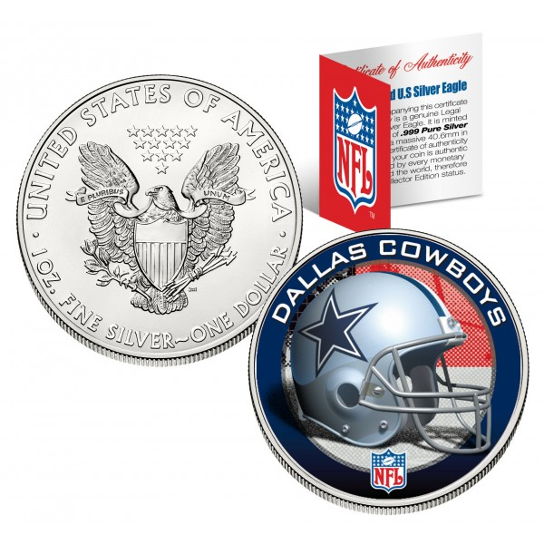 Dallas Cowboys 1 Oz American Silver Eagle 1 Us Coin