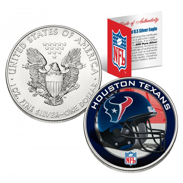 Houston Texans 1 Oz American Silver Eagle 1 Us Coin