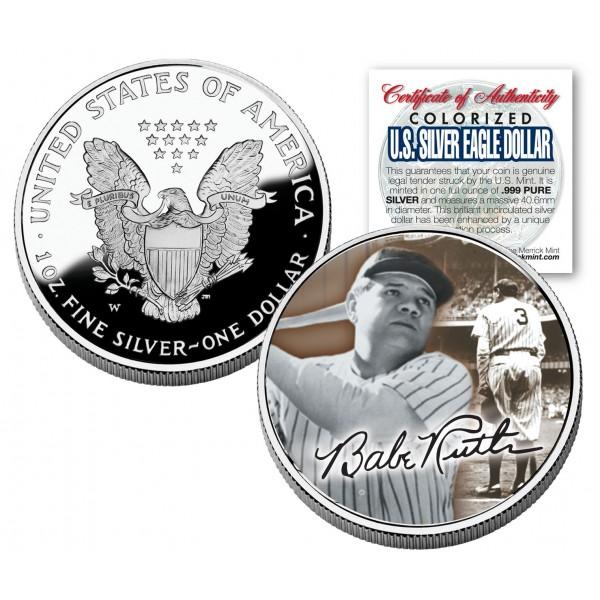 Babe Ruth 2005 American Silver Eagle Dollar 1 Oz U S