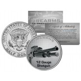 12 GAUGE SHOTGUN Firearm JFK Kennedy Half Dollar US Colorized Coin