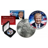 DONALD TRUMP 45th President 1976 Bicentennial IKE Eisenhower Genuine Dollar Coin with Premium Display Box