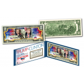 "2016 Presidential Election HILLARY CLINTON VS. DONALD TRUMP ""DUAL"" U.S. Genuine Legal Tender $2 Bill"