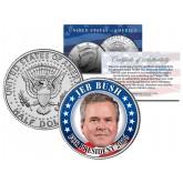 JEB BUSH FOR PRESIDENT 2016 Colorized JFK Kennedy Half Dollar U.S. Coin Political CAMPAIGN