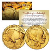 2017 24K Gold Plated $50 AMERICAN GOLD BUFFALO Indian Tribute Coin (Lot of 3)