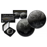 BLACK RUTHENIUM 1 oz .999 Fine Silver 2018 American Eagle U.S. Coin and Deluxe Felt Display Box