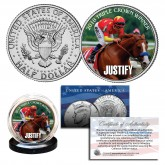 JUSTIFY 2018 TRIPLE CROWN WINNER Thoroughbred Racehorse JFK Half Dollar U.S. Coin