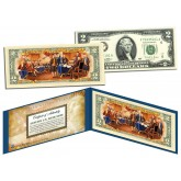 TWO DOLLAR $2 U.S. Bill Genuine Legal Tender Currency COLORIZED * REVERSE * SIDE