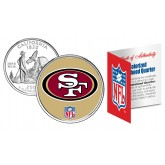 SAN FRANCISCO 49'ers NFL California US Statehood Quarter Colorized Coin  - Officially Licensed