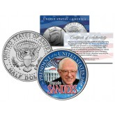BERNIE SANDERS FOR PRESIDENT 2016 Campaign Colorized JFK Kennedy Half Dollar U.S. Coin