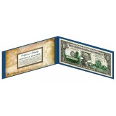 "OREGON State $1 Bill - Genuine Legal Tender - U.S. One-Dollar Currency "" Green """
