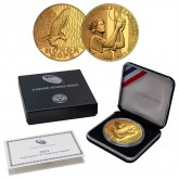 2011 SEPTEMBER 11 NATIONAL MEDAL 1oz Silver 9/11 Proof Coin 24KT Gold Plated WTC