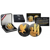 2011 SEPTEMBER 11 NATIONAL MEDAL 1oz Silver 9/11 Proof Coin BLACK RUTHENIUM Golden Enigma WTC