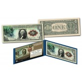 1869 George Washington Christopher Columbus Rainbow One-Dollar Banknote designed on modern $1 bill