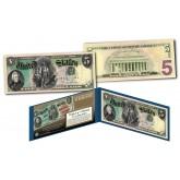 1869 Andrew Jackson $5 Rainbow Woodchopper Designed Legal Tender Modern U.S. Five-Dollar Bill